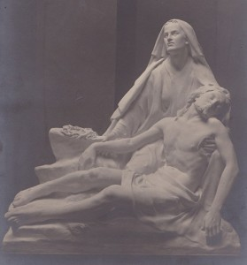 St. Katherines Church, Rotherhithe, Pieta 1919, sculpture by Thomas Mewburn Crook