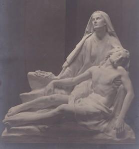 St. Katherines Church, Rotherhithe, Pieta 1919, sculpture by Thomas Mewburn Crook