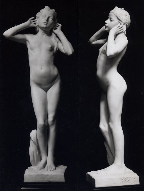 Youth or Mysteries, RA exhibit 1912, sculpture by Thomas Mewburn Crook