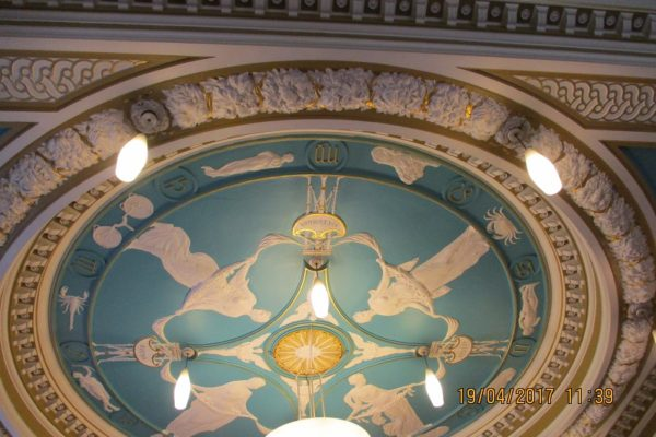 Ceiling of Council Chamber Manchester by Thomas Mewburn Crook