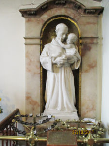 St Marys Church, Standishgate, Wigan, Vision of Chateauneuf 1918, sculpture by Thomas Mewburn Crook