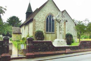 War Memorial by Thomas Mewburn Crook at St Lawrence, Caterham