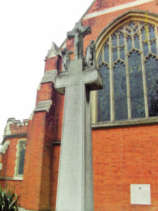 War Memorial by Thomas Mewburn Crook at St Saviour's Raynes Park, London